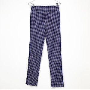 Margaret M Printed Trim Detail Straight Leg Pants